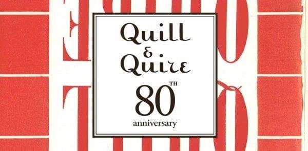 Quill & Quire 80th anniversary logo