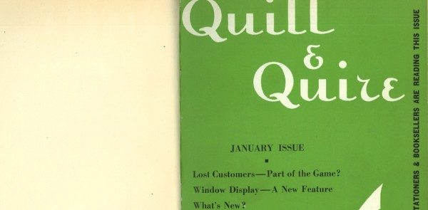 A photo of an old issue of Quill & Quire