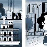 Two comics of towns