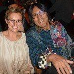 Yvette Lehmann with Matt Cohen Award winner Richard Wagamese