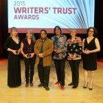Prize winners Karen Solie, Deirdre Dore, André Alexis, Richard Wagamese, Jan Thornhill, and Annabel Lyon