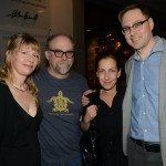 Latner Writers' Trust Poetry Prize winner Karen Solie with fellow poets Kevin Connolly, Elyse Friedman, and Matthew Tierney.