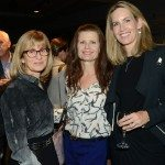 Jan Innes with Writers' Trust board member Julie Osborne and Writers' Trust executive director Mary Osborne