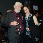 Writers' Trust board member Hal Wake and Engel/Findley Award winner Annabel Lyon