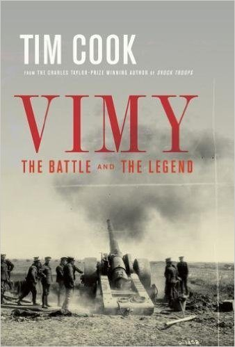 Tim Cook's Vimy wins the J.W. Dafoe Book Prize
