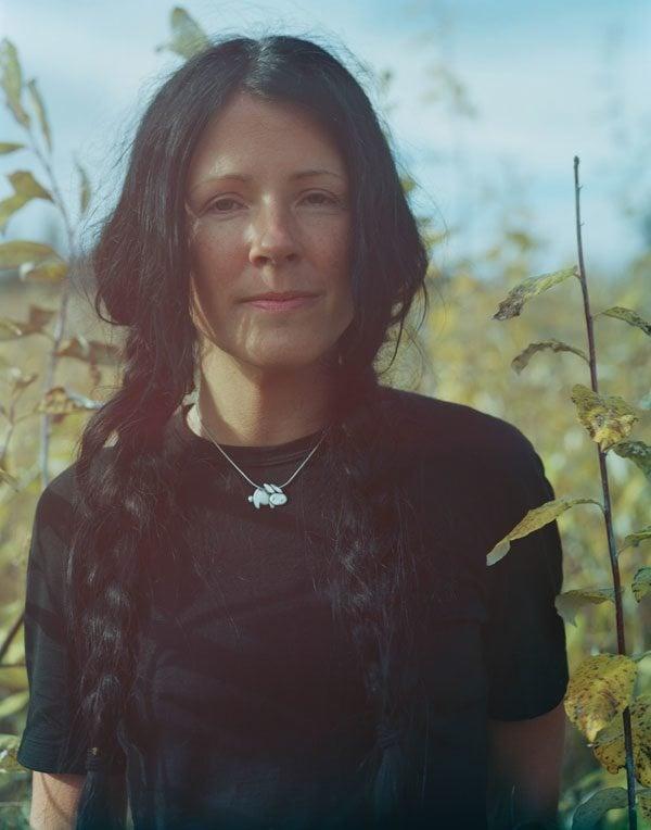 Carleigh Baker standing in a field