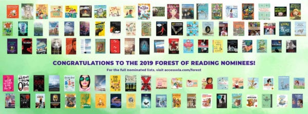 2019 Forest of Reading Nominees