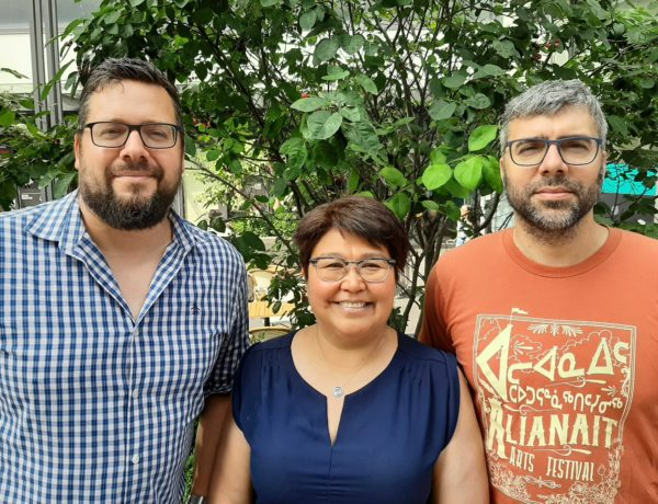 Danny Christopher, Louise Flaherty, and Neil Christopher, co-owners of Inhabit Media (July 2019)
