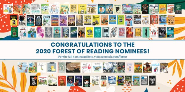 2020 Forest of Reading Nominees