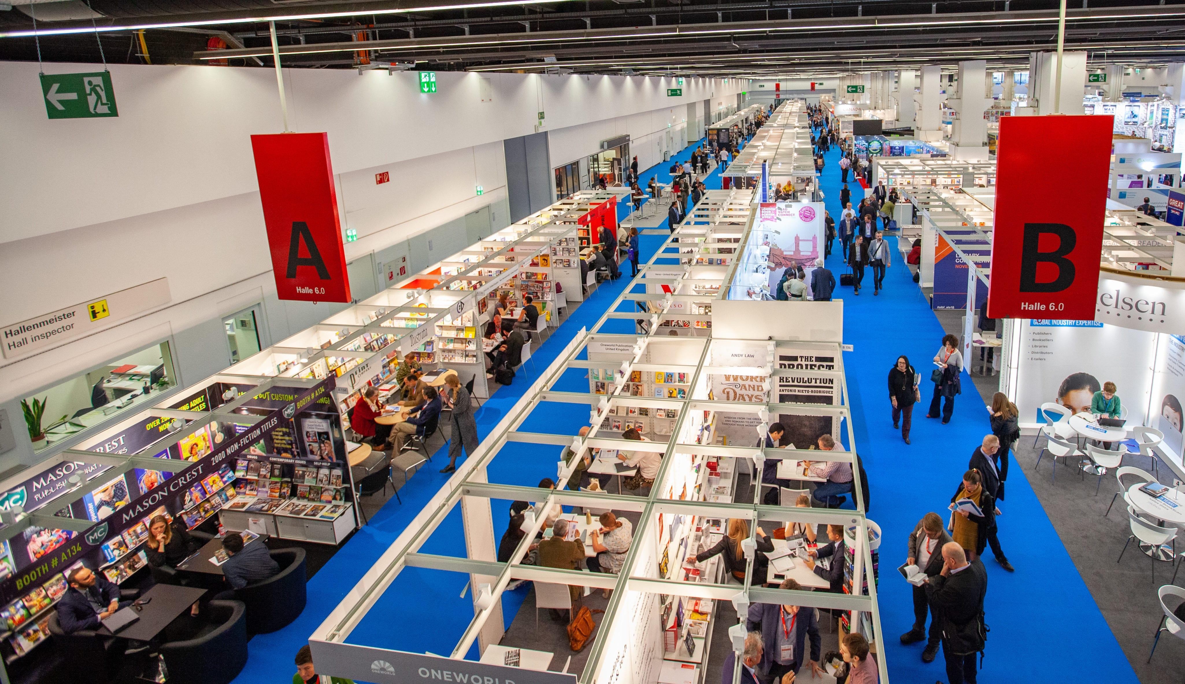 The floor of the Frankfurt Book Fair