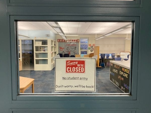 School library closed due to COVID-19