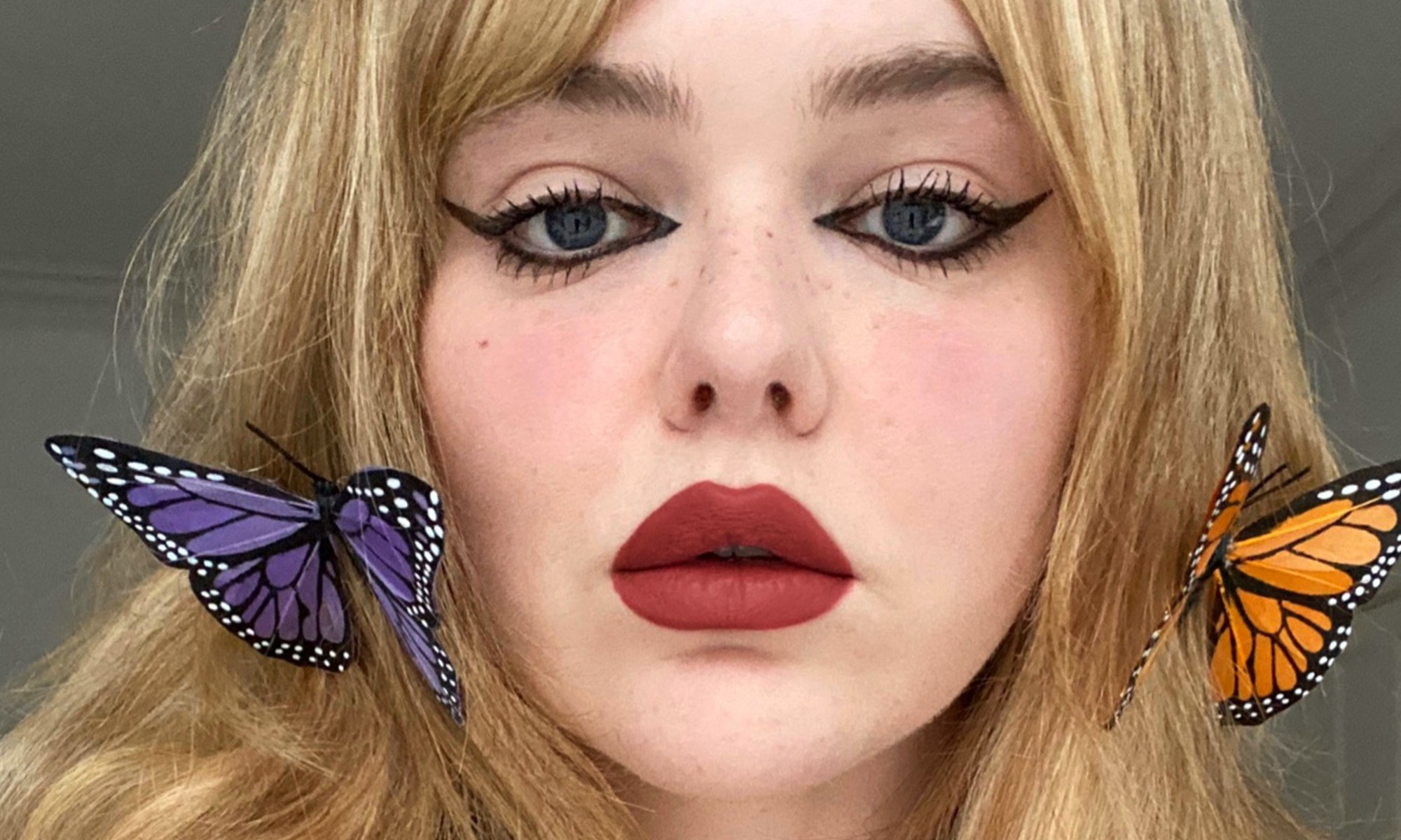 Photo of Katherine Harvey with butterfly hair clips