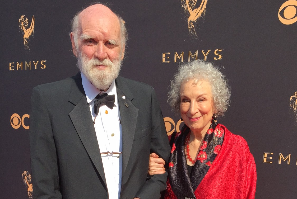 Graeme Gibson and Margaret Atwood on the red carpet at the Emmys