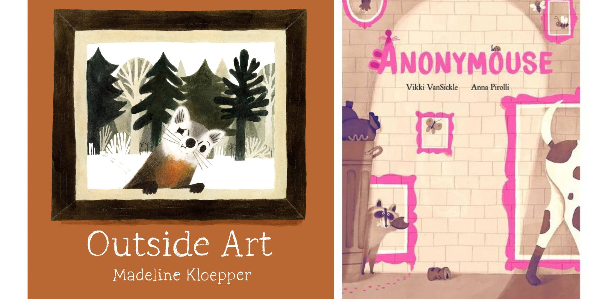 Covers for Outside Art and Anonymouse