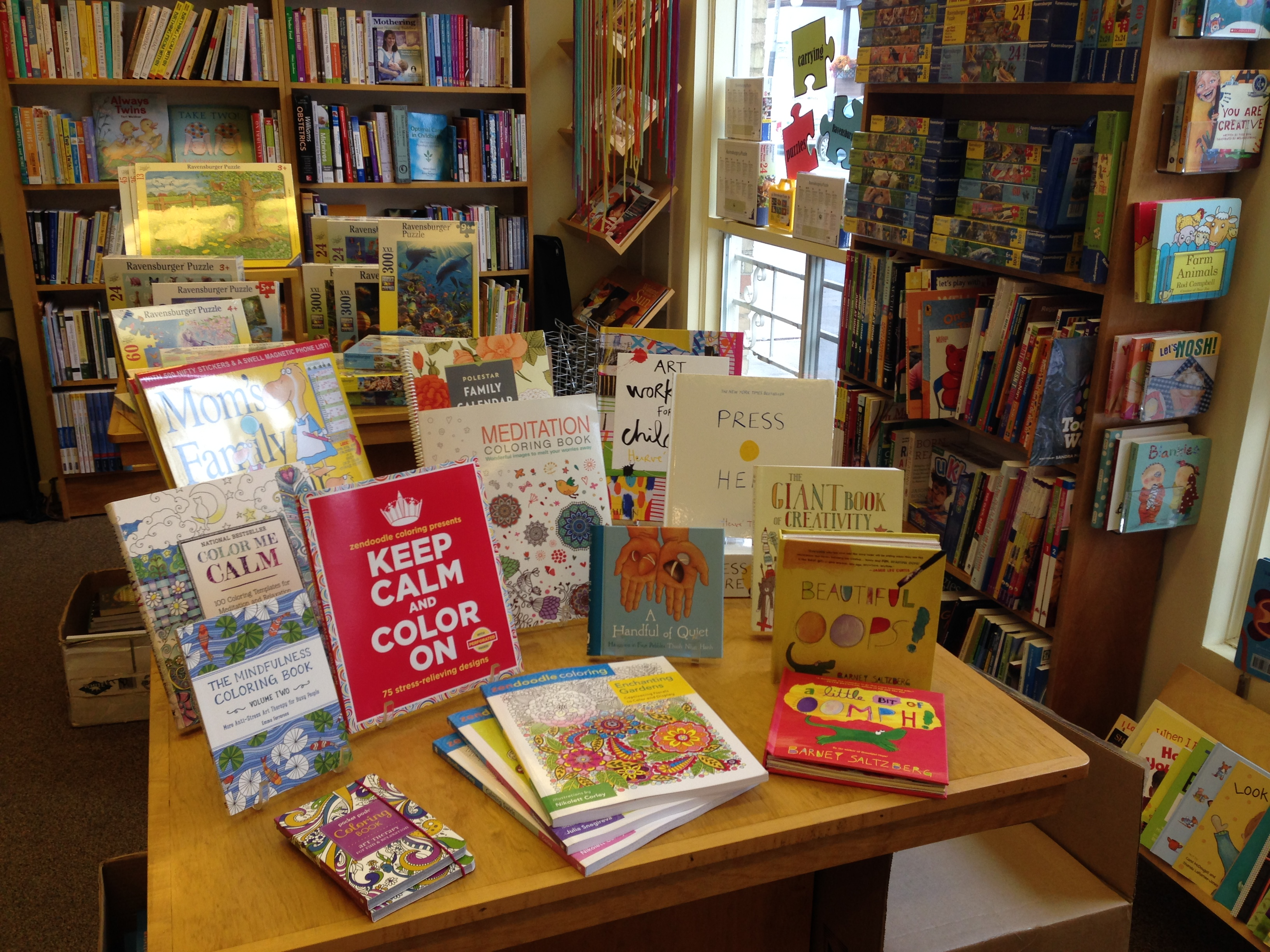 Table display at Parentbooks