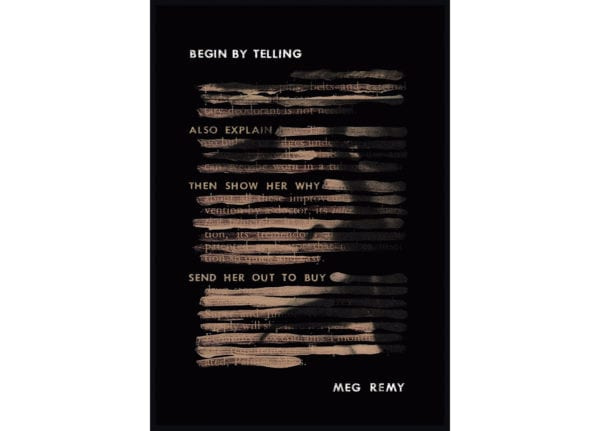 The cover of Meg Remy's Begin By Telling