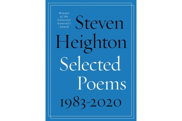 The cover of Steven Heighton's Selected Poems 1983 to 2020