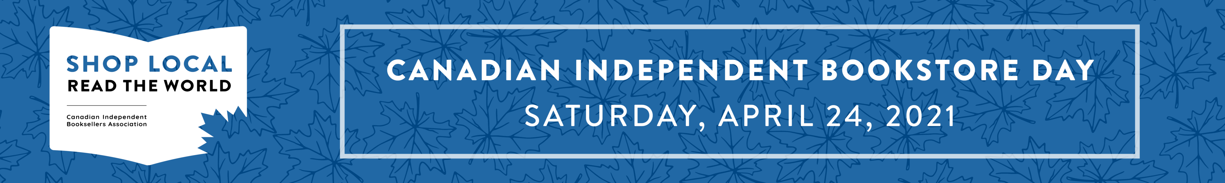 Canadian Independent Bookstore Day banner