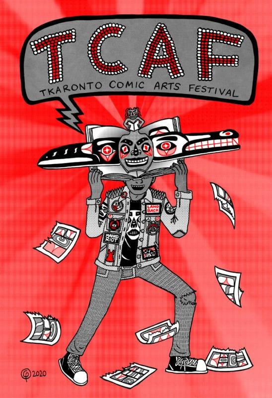 Illustrated poster of Toronto Comic Arts Festival