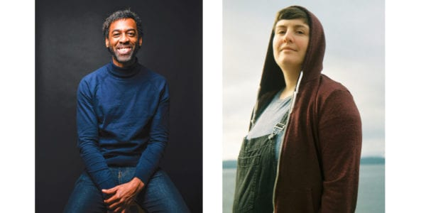 Photos of two authors appearing at The Festival of Literary Diversity