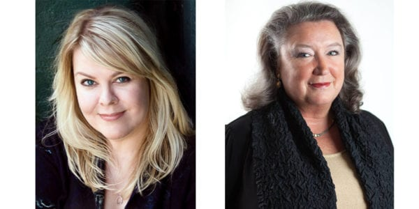 Photos of two authors appearing at When Words Collide