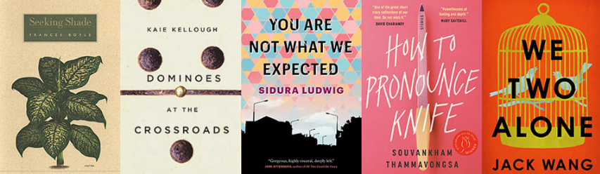 Covers of the books shortlisted for the 2020 Danuta Gleed Literary Award