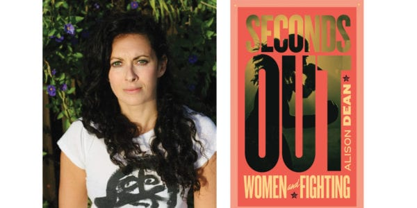 The cover of Alison Dean's Seconds Out with a photo of the author