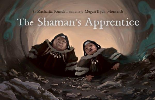 The cover of Zacharias Kunuk and Megan Kyak-Monteith's The Shaman's Apprentice