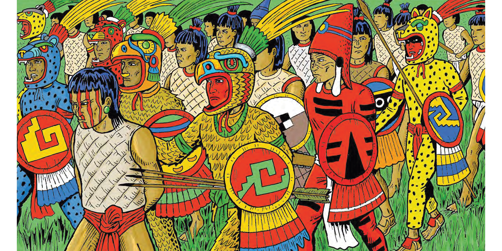 An interior Illustration from Gord Hill's The 500 Years of Indigenous Resistance Comic Book