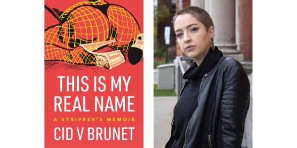 The cover of Cid V Brunet's This Is My Real Name with a photo of the author