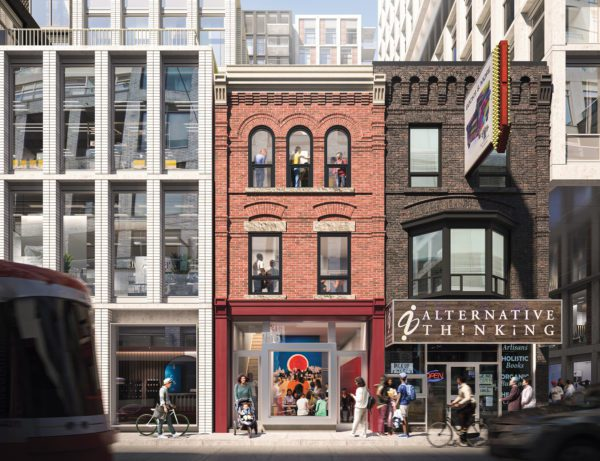 An architect's rendering of A Different Booklist's new location