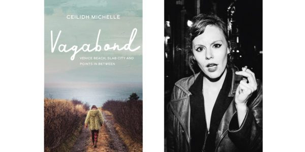 The cover of Ceilidh Michelle's Vagabond with a photo of the author