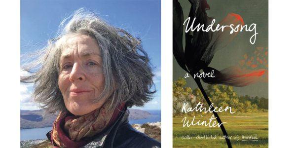 The cover of Kathleen Winter's Undersong with a photo of the author