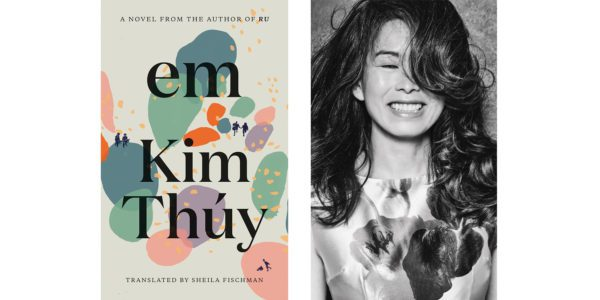 The cover of Kim Thúy's Em with a photo of the author