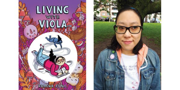 The cover of Rosena Fung's Living With Viola with a photo of the author