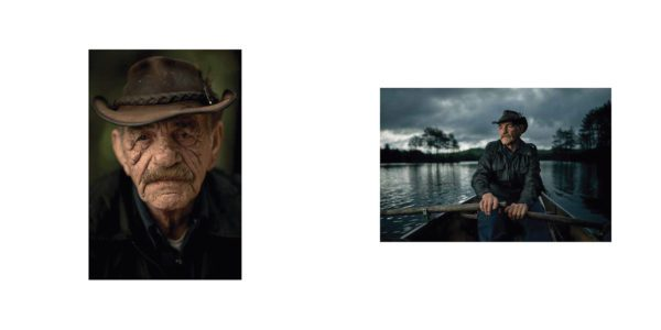 Two photographs from the interior of Wayne Simpson's Resilient